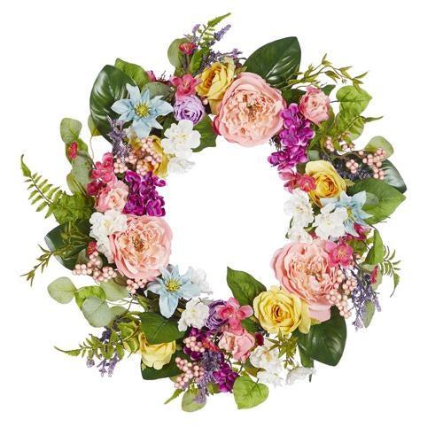 "24"" Peony and Rose Wreath"