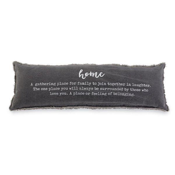 WASHED CANVAS HOME DEFINITION PILLOW