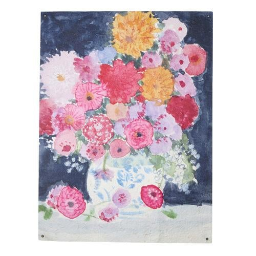 """38"""" Dramatic Florals Paper Tapestry"""