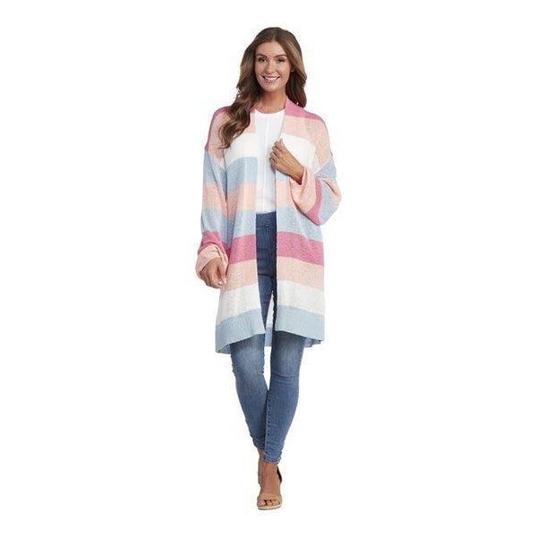 Nylah Striped Cardigan Pink