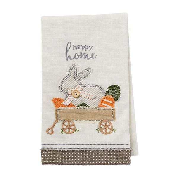 BUNNY WAGON APPLIQUE TOWEL