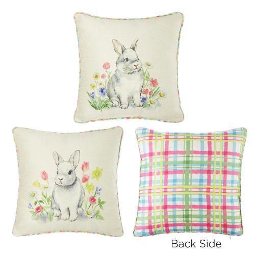 "14"" Spring Bunny Pillow"
