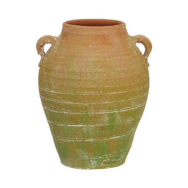 "10.75"" Mossy Terracotta Pot"