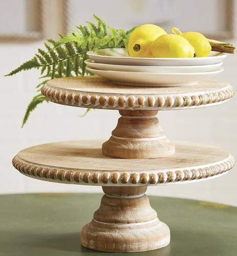 BEADED EDGE PEDESTAL