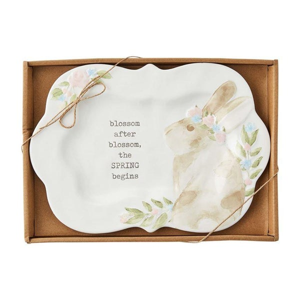 SPRING BUNNY BOXED PLATTER