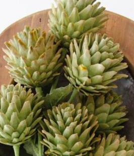 24 Inch Soft Green Triple Artichoke Spray
