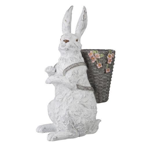 "20.25"" Rabbit with Basket on Back"