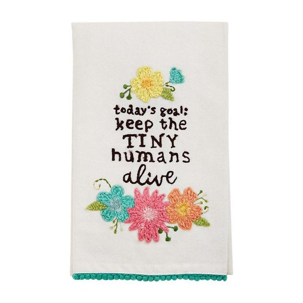 TINY HUMANS FLORAL TOWEL