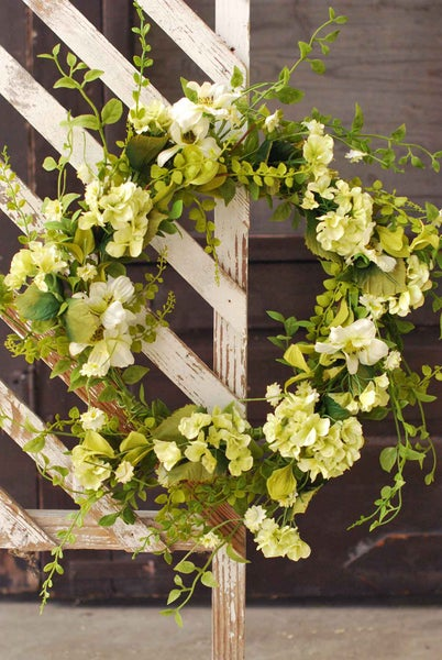 """Unbridled Blooms Wreath 