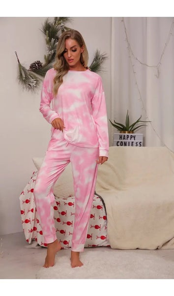 Light Pink Tie Dye Long Sleeves and Joggers Set