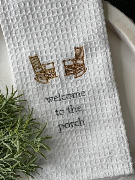 Welcome Waffle Weave Towel