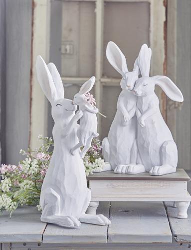 Rabbit Couple Figurine