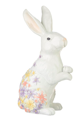 FLORAL EMBOSSED HIGH SHINE BUNNY