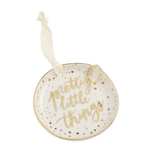 Trinket Tray Jewelry Set Cream