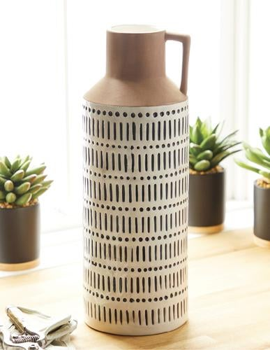 TALL PATTERNED JUG