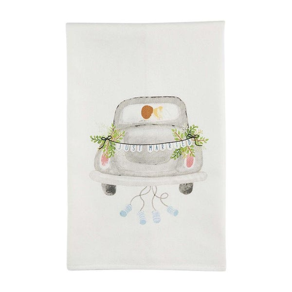 Just Married Wedding Towel