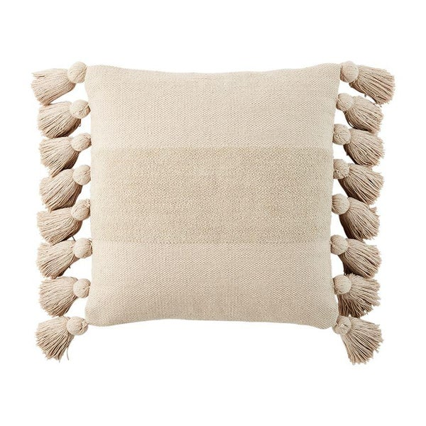 TAN TASSEL PILLOW