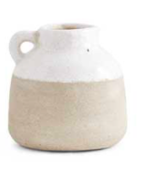Short & Round Two Tone Ceramic Jug