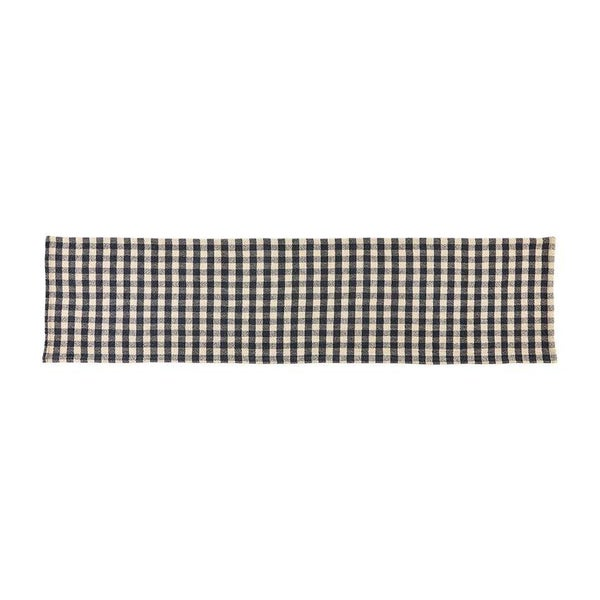 WOVEN COTTON CHECK RUNNER