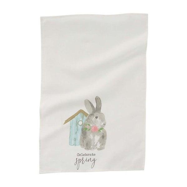Bunny Birdhouse Towel
