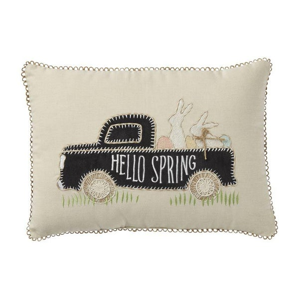 Hello Spring Truck Pillow