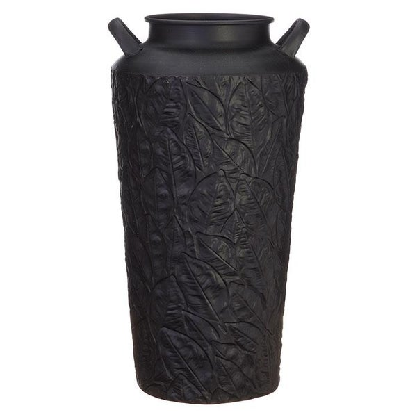 "17"" Leaf Patterned Urn"