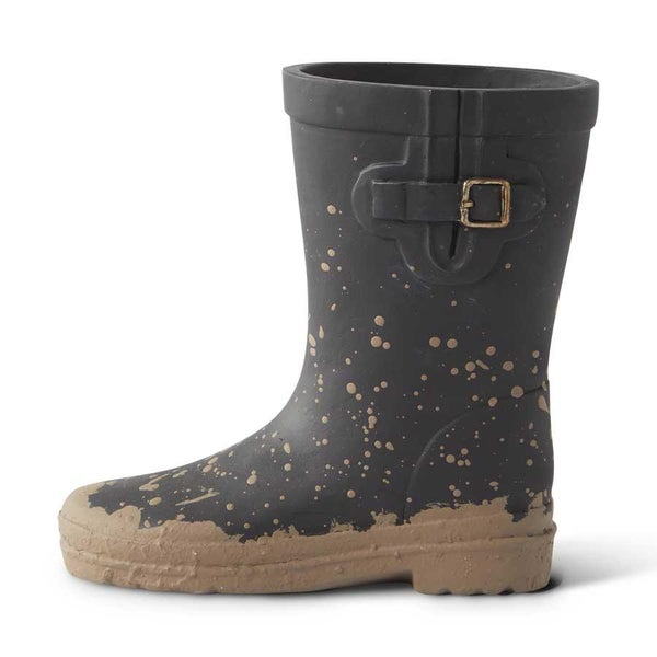 Mini Black Resin Rainboot