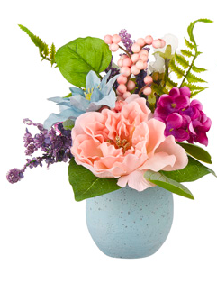 Peony in Blue Egg Arrangment
