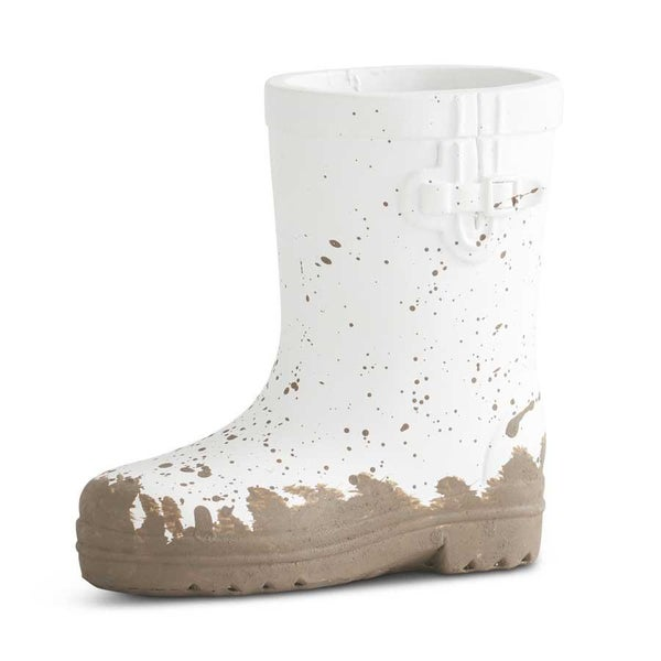 Mini White Resin Rainboot