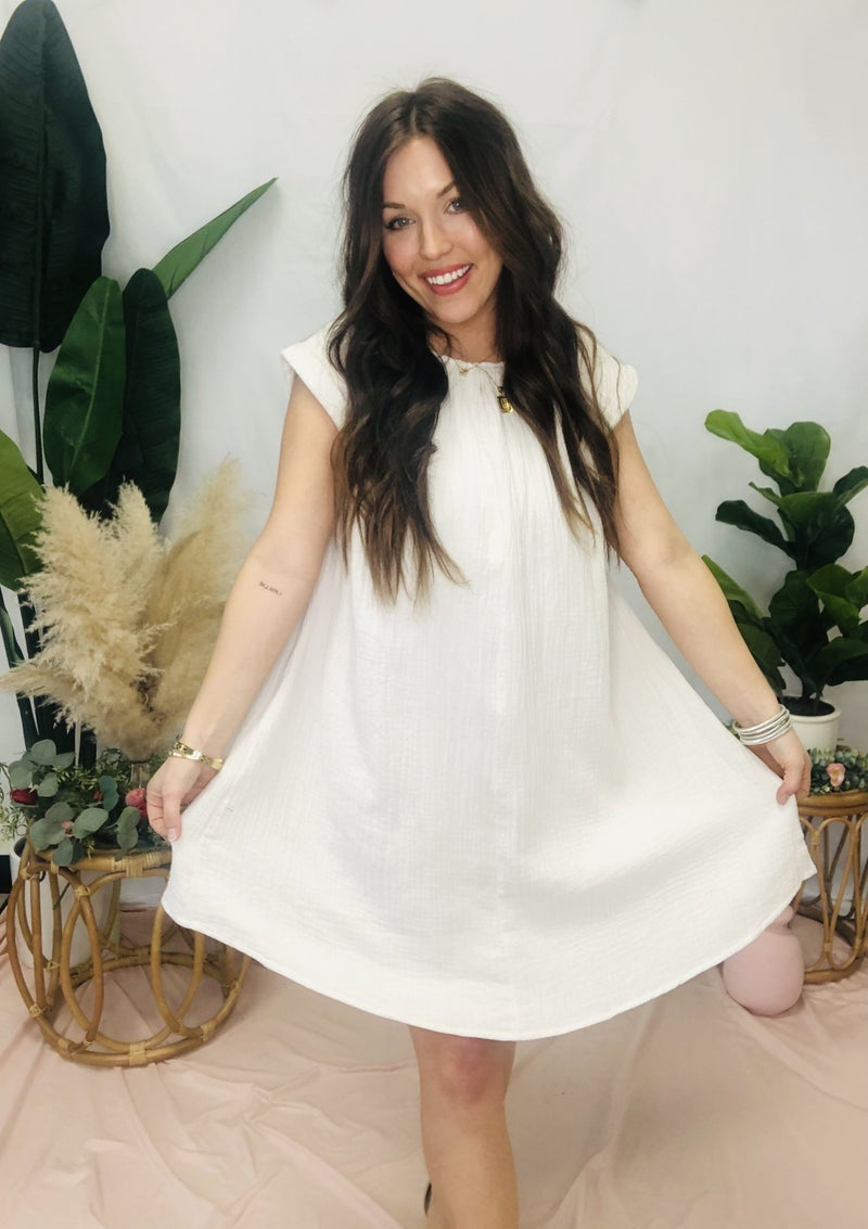 Take Me Away Dress Cream