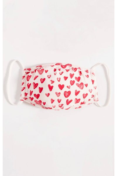 Red Hearts Mask By Z Supply
