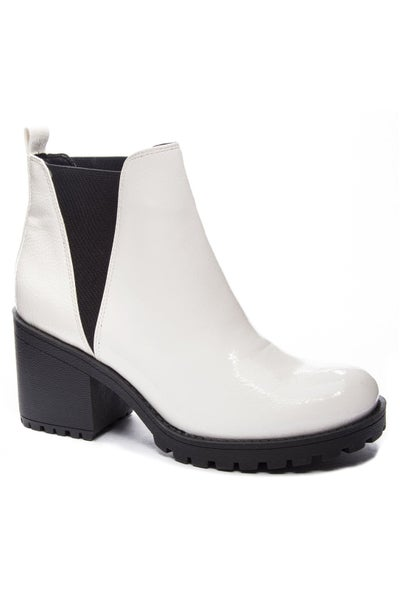 Lisbon Lita White Bootie by Dirty Laundry