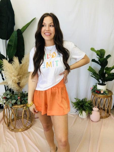 Feelin Alright Shorts Orange