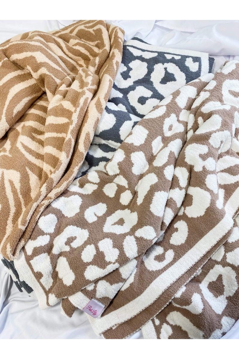 In your Dreams Blanket Grey Leopard