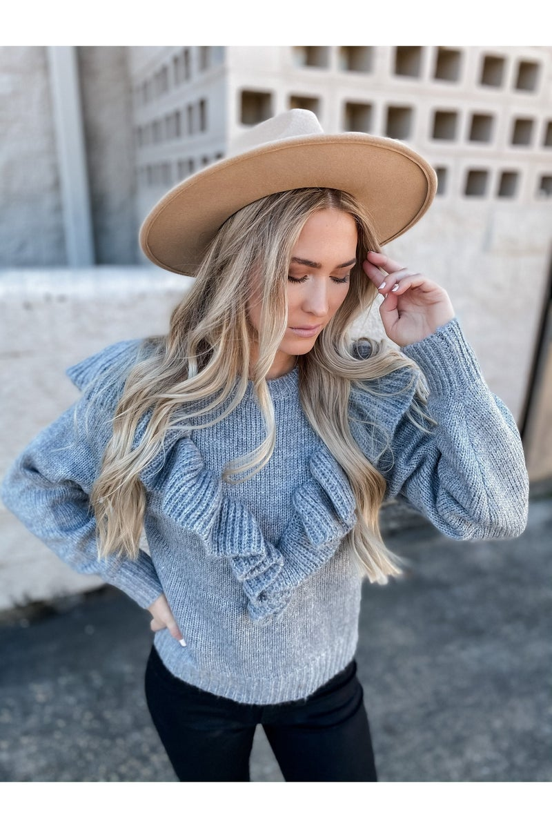 Ready To Love Me Sweater Heather Gray