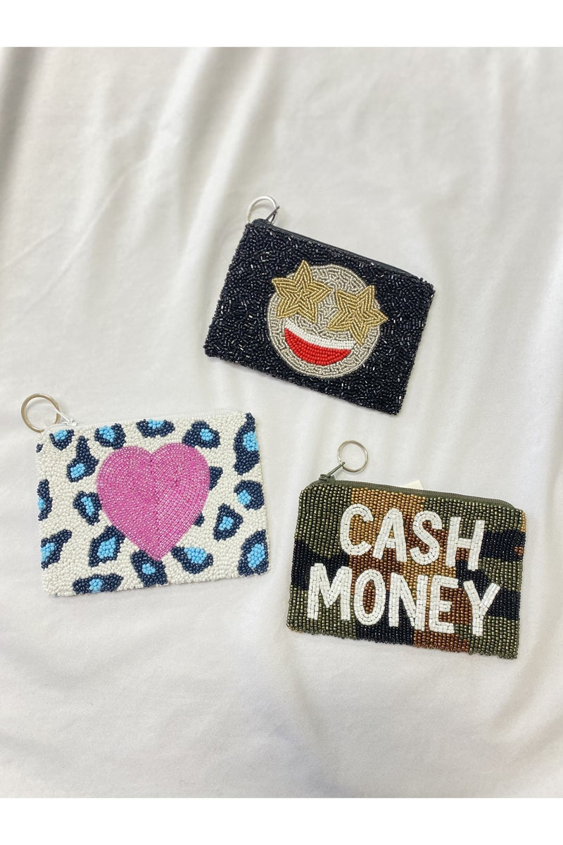 Beaded Cash Money Coin Purse Tiana