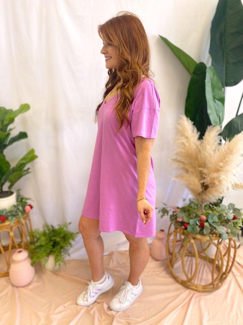 Birdie Organic Mini Dress Violet