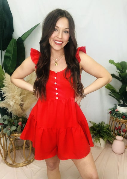 Own It Romper Red