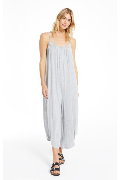 The Flared Jumpsuit Heather Grey By Z Supply