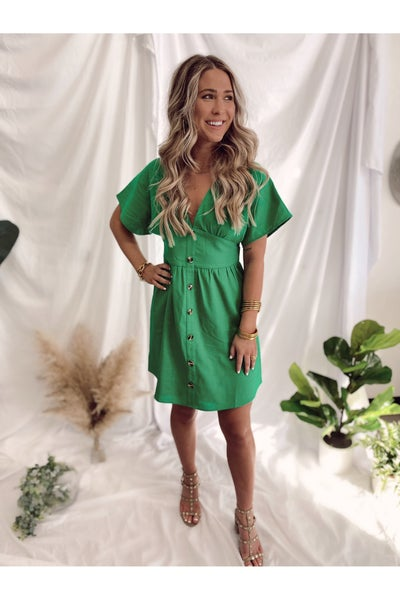 Shelby Kimono Dress Kelly Green