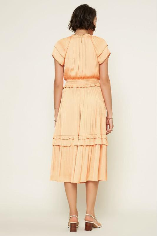 Level Up Midi Dress Cantaloupe