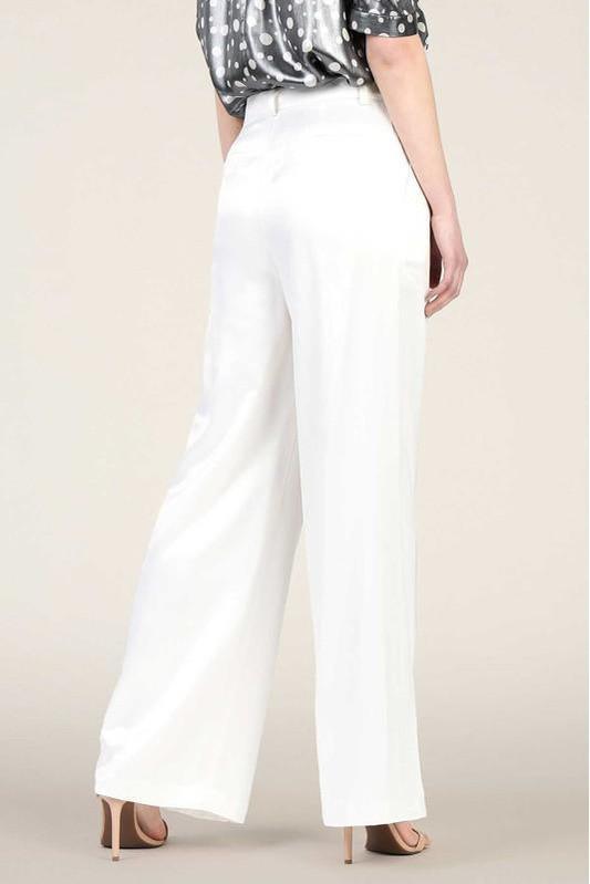 Manhattan Ivory Wide Leg Pants