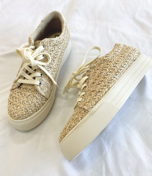 Support Natural Raffia Sneaker by Seychelles