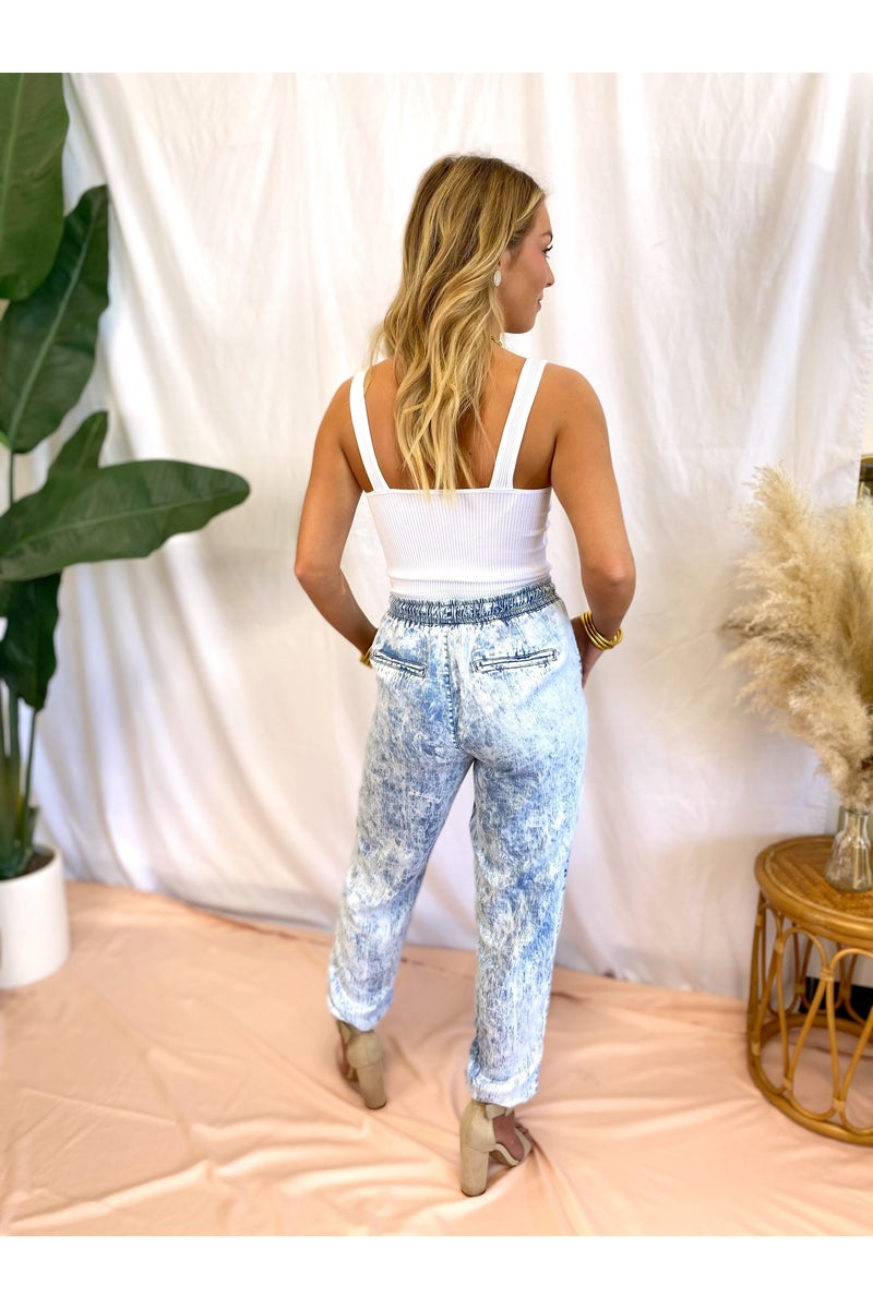 Serena Joggers Acid Wash