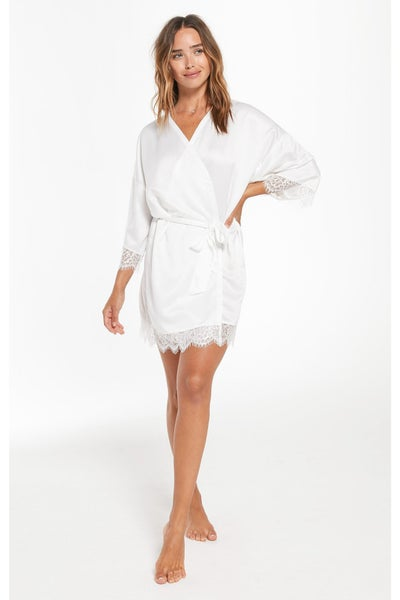Best Day Ever Robe Pearl White