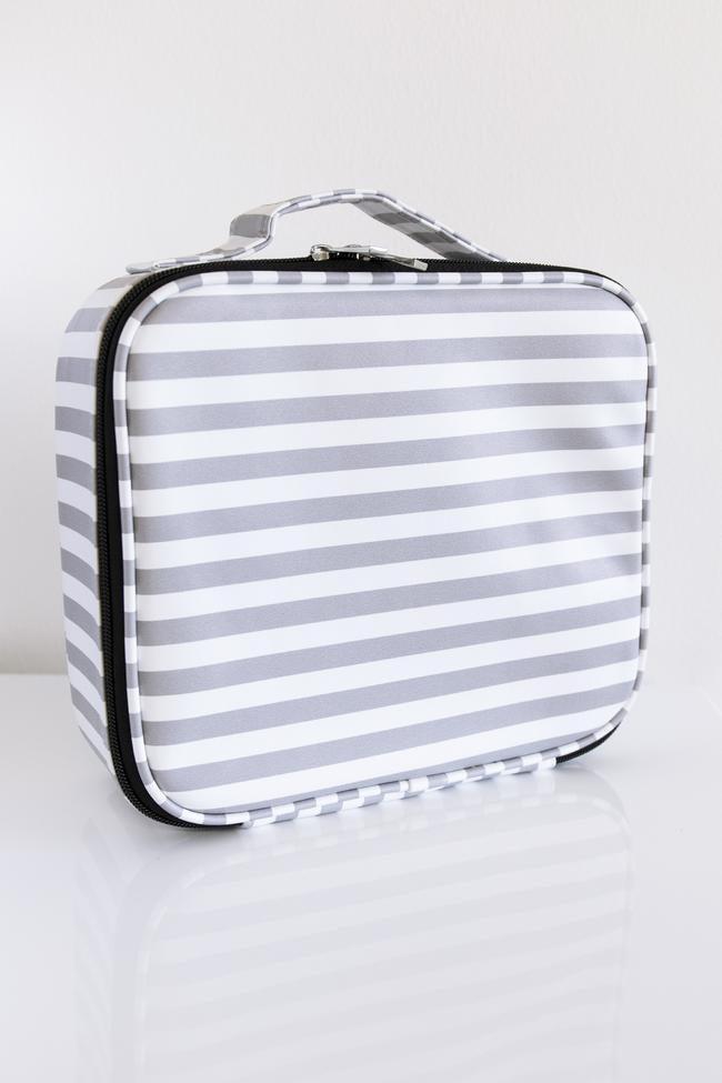 No Time to Spare Makeup Bag Stripe