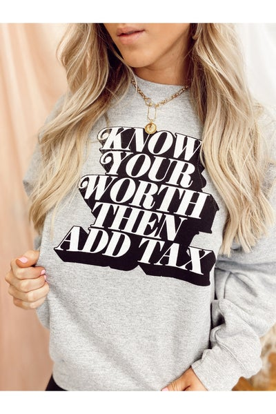 Just Let Me Adore You Sweatshirt Heather Gray