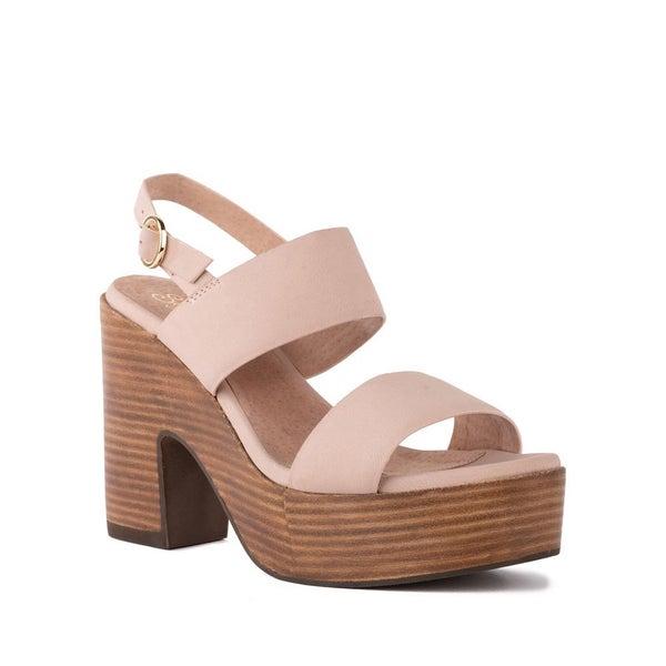 Pleased Nubuck Block Heel by Seychelles Pink
