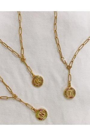 Bracha Initial Medallion Lariat