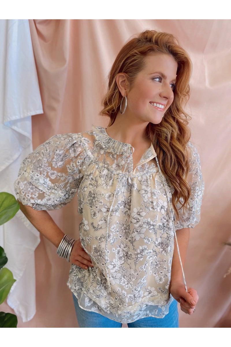 Pretty Woman Floral Top